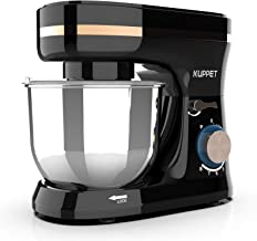 Kuppet Stand Mixers, 380W, 8-Speed Tilt-Head Electiric Food Stand Mixer with Dough Hook, Wire Whip & Beater, Pouring Shield, 4.7QT Stainless Steel Bowl. (White)