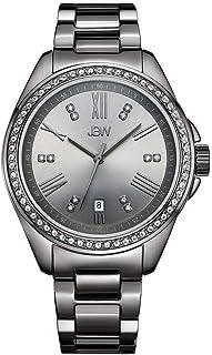 JBW Capri Women's Gunmetal Dial Stainless Steel Band Watch - J6340E