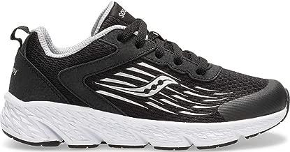 Saucony Unisex Wind Sneaker, Black, 050 Medium US Big Kid