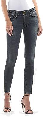 Le Temps des Cerises Jeans Pulp Slim 7/8ème Doha Noir délavé Push up