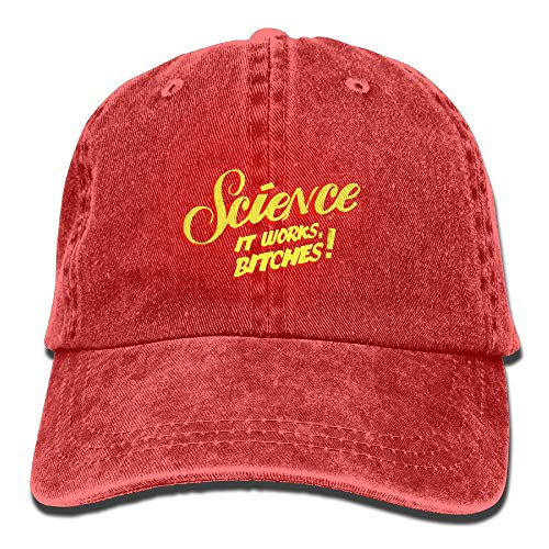 Funny Z Science It Works Bitches Retro Classic Jean Gorra de Béisbol Algodón Ajustable Dad Hat