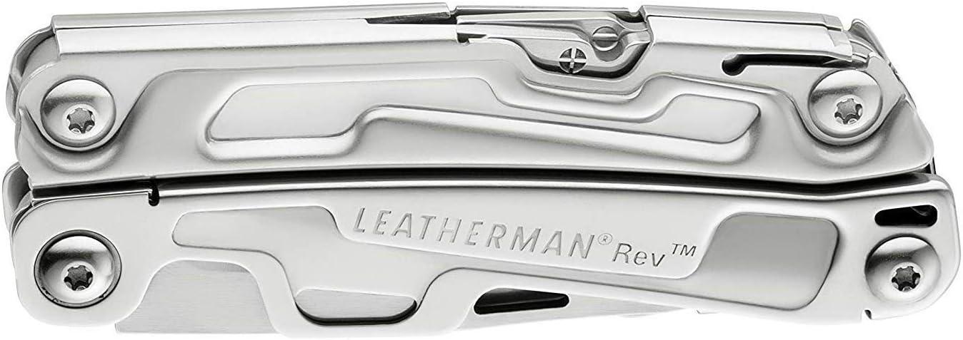 Leatherman LT832136 Rev HERRAMIENTAS PROFESIONALES Einheitsgr/ö/ße Silber mit Nylon Holster