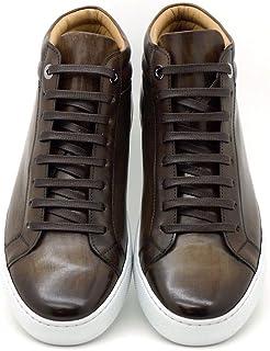 Scarpe Sneakers Uomo-Artigianali-Vera Pelle -Made in Italy