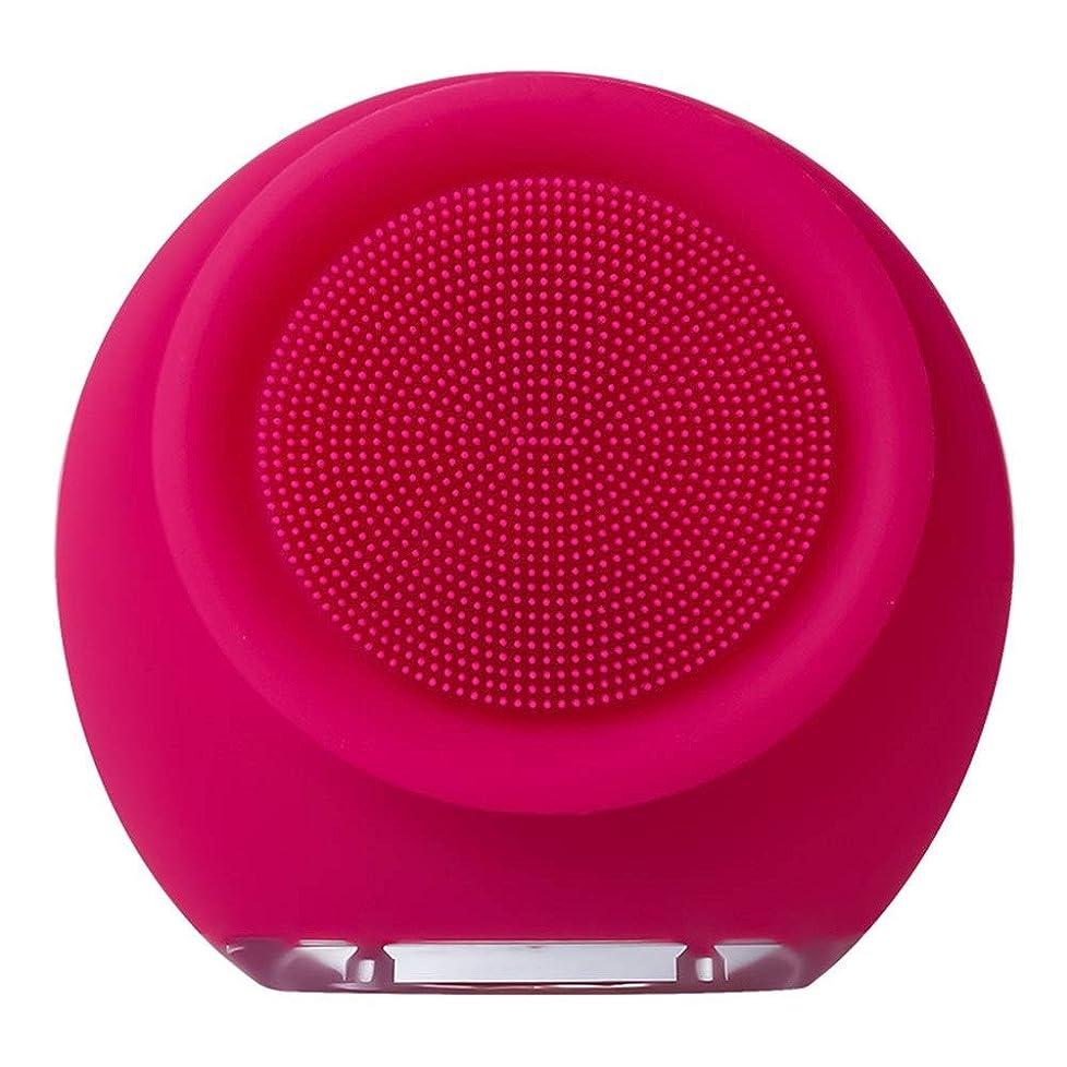 疲れたサラミテロZHILI フェイスクリーナー防水電動フェイスクレンザーシリコンフェイシャルブラシマッサージャー削除肌にきびにきび毛穴美容ツール (Color : Pink2)