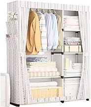 خزانة ملابس قماش قابلة للحمل، ابيض