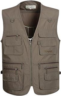 Gihuo Men's Summer Outdoor Work Safari Fishing Travel Vest with Pockets