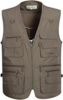 Men's Summer Outdoor Work Safari Fishing Travel Vest with Pockets
