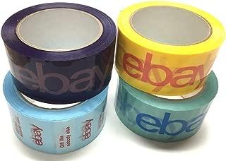 eBay Branded BOPP 2-mil Packaging Shipping Tape, Pack of (4) 75'x2