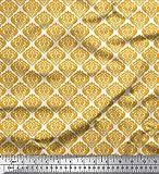 Soimoi Gold Samt Stoff Nahtlose Barock Damast gedruckt