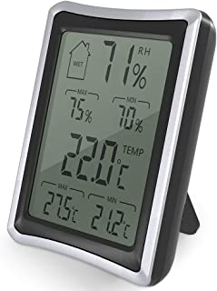 BENGOO Home Humidity Monitor Indoor Hygrometer Thermometer Stand/Wall Mount with 4 inch Large, LCD Display for Baby Room Bedroom Office Greenhouse Warehouse