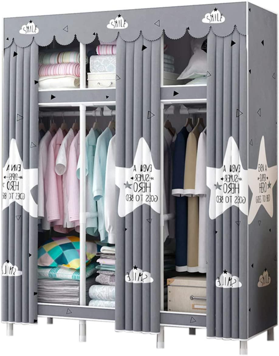 BYCDD Max 44% OFF Portable Cloth Wardrobe for Shelf Bedroom Closet Quality inspection Ha