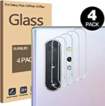 SURBUID Camera Protector for Samsung Galaxy Note 10/Note 10 pro/Note 10 Plus 5G 9HD Screen Protector Camera Lens, [4 Pack] Bubble Free Tempered Glass Protection Film (Clear)