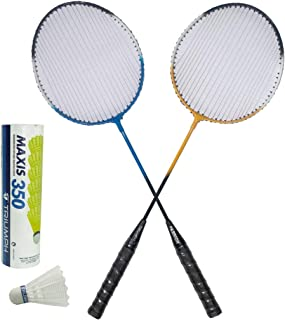 TRIUMPH Passion Badminton Combo with 1 Pair Racket and 6 Pc Shuttlecock Set