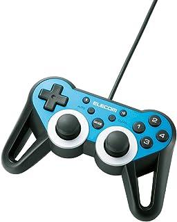 【2010年モデル】エレコム ゲームパッド USB接続 12ボタンアナログスティック搭載 振動/連射 高耐久 【ファイナルファンタジーXIV: 新生エオルゼア推奨】 ブルー JC-U3312SBU