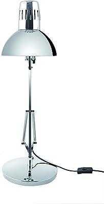 Alba - ARCHI CH - Lampe LED de Bureau - Protection des Yeux - Architecte - Livrée avec Base - 3 fixations possible socle, murale et bureau - Chromé