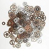 Colgante de engranajes steampunk de 200 gramos – Reloj redondo de metal antiguo para manualidades, accesorio de fabricación de joyas (2 colores)
