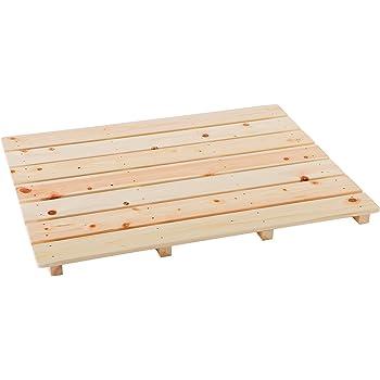 池川木材 【国産】 桧 厚板すのこ 7枚打 (85×65.5cm)