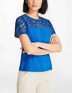 Brooks Brothers Women's Short Sleeve Lace Yoke T-Shirt