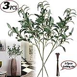 Plantas artificiales, 5 unidades de 89 cm de largo, tallos de hoja de eucalipto, de seda, arbustos de vegetación, plantas falsas, flores florales para decoración del hogar, fiesta o boda