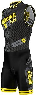 Fdx Triathlon pak voor heren, ademend, sneldrogend, mouwloos, trisuit voor duatlon zwemmen, fietsen, hardlopen, eendelige ...