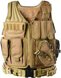 YAKEDA Tactical Vest Outdoor Ultra-Light Breathable Combat Training Vest Adjustable for Adults 600D Encryption Polyester-VT-1063