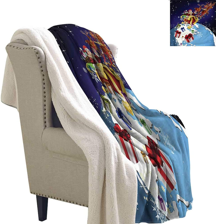Zodel Flannel Double Blanket Christmas Europe America Kids Washable Shaggy Fleece Blanket W59 x L31