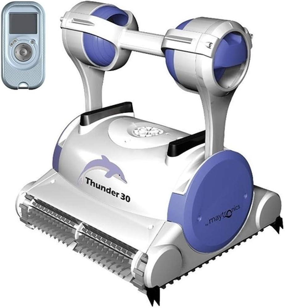 Robot pulitore piscina dolphin thunder 30,pulisce il fondo, pareti e linea di galleggiamento. doppio motore THUN-30