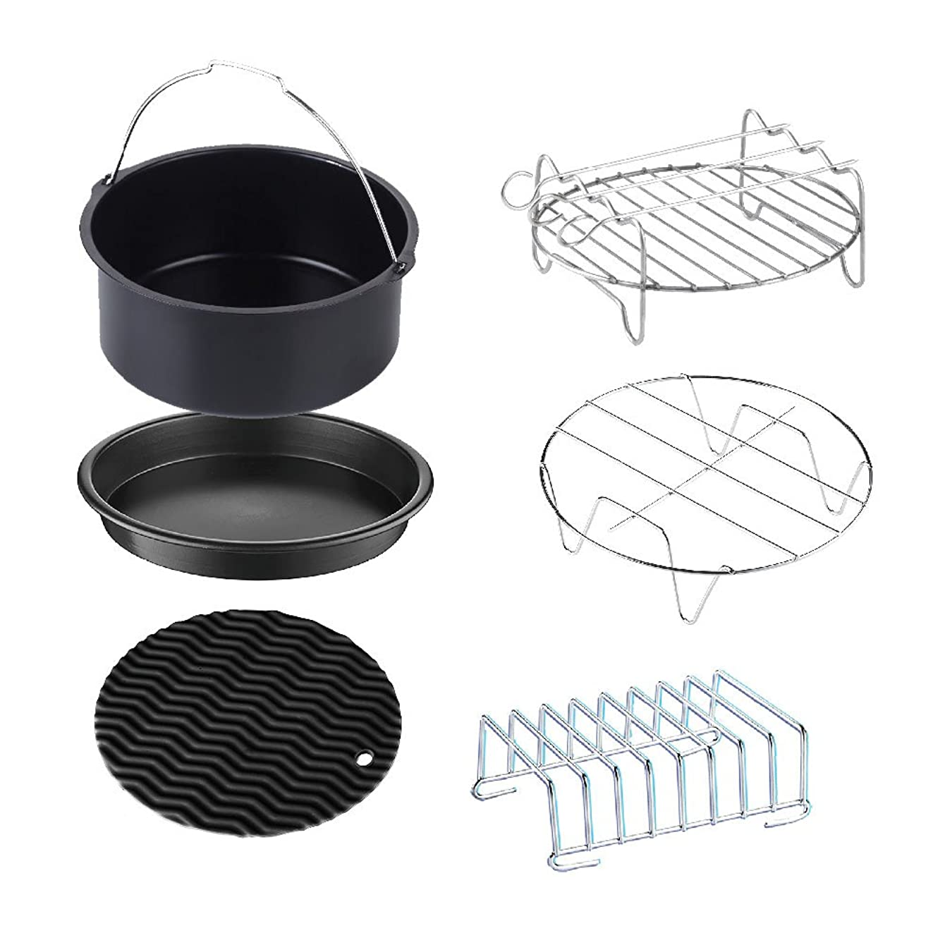 XL Air Fryer Accessories, 6pcs for GoWISE USA, Cosori Air Fryer Phillips, Power, Cozyna and more, best fit for 4.5-Quarts to 5.8-Quart Air Fryers (XL)