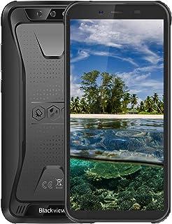 Blackview BV5500Pro スマートフォン本体 Simフリー 4Gスマホ本体 Android9.0Pie 5.5インチ 5MP+8MP 3GB+16GB 4400mAh 防水/防塵/耐衝撃 タフスマホ 技適認証済み 携帯電話 1年間保証付き ブラック