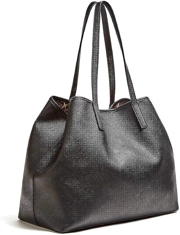 Guess Vikky Large Tote, Sac à l'épaule Femme Noir (Black)