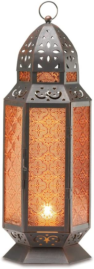 High quality 2 Large Glass excellence Tall Moroccan Candle Holder Lanterns Misc.