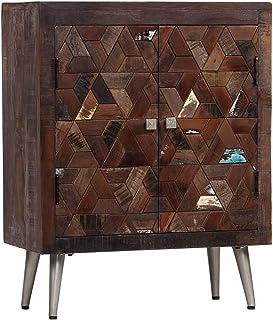 Tidyard Aparador Moderno para Salón Dormitorio Cocina Armario Mueble Madera Maciza reciclada 60x30x76 cm