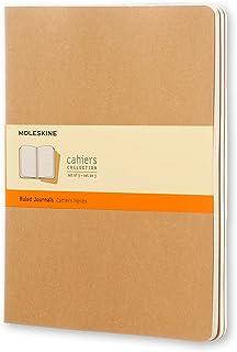 Caderneta Cahier, Kraft,Conjunto com 3 Unidades, Pautada, Tamanho Extra Grande