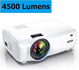 Projector, WiMiUS P30 4500 Lumens Mini Projector HD 1080P Support 200