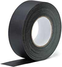 Real Premium Gaffer Tape Black 2 Inch x 30 Yards Heavy Duty Gaffer's Tape Main Stage Gaff for Pro Photography, Filming Backdrop,Book Binding Repair, Easy to Tear Non-Reflective No Sticky Residue.