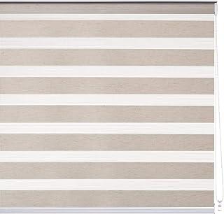 LOLAhome Estor Enrollable Noche y día Beige de Tela (160 x 180 cm)