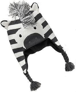 Baby Kids Warm Winter Hat Cute Animal Crochet Earflap Hood Caps