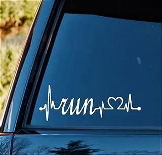 Bluegrass Decals Run Heartbeat Lifeline 8.0 Inch Decal Sticker K1173