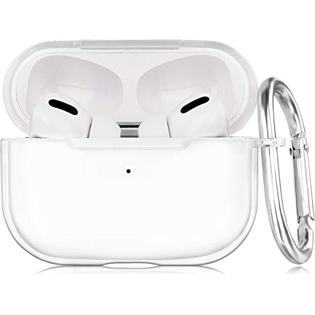 AirPods Pro Case AIRSPO Clear Case for AirPods Pro Charging Case Soft TPU Airpod Pro Protective Case 2019 with Keychain Airpods 3 Protective Cover Skin (Clear)