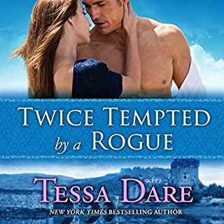 Twice Tempted by a Rogue     The Stud Club Trilogy, Book 2              By:                                                                                                                                 Tessa Dare                               Narrated by:                                                                                                                                 Rosalyn Landor                      Length: 11 hrs and 26 mins     144 ratings     Overall 4.1