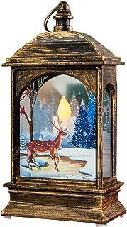 Blackzone Snowman/Santa/Elk Christmas LED Candle Tea Light Lamp Home Xmas Holiday Party Decoration Bronze Elk