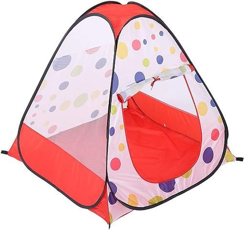 Igspfbjn Tentes pour Enfants Self-Bounce Couleur petit Dot Maille Fil Quatre Côtés Ball Pool Pool Game House (Taille   Taille Unique)