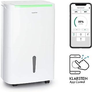 KLARSTEIN DryFy Connect 30 deshumidificador de Aire - WiFi, 230 m³/h, para Salas de 25-30 m², depósito para Agua de 5 litros, Humedad deseada Regulable, silencioso, Rendimiento de 30 l/día, Blanco