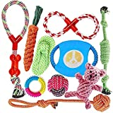 Dog Toys for Aggressive Chewers, Indestructible Dog Rope Toys for Small to Medium Dog, Rope Chew Toys for Puppies, Dog Safe and Healthy Gift Set 10 Pack