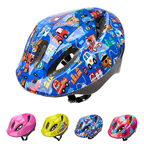 Casco Bicicleta Bebe Helmet Bici Ciclismo para Niño - Cascos para Infantil - Bici Casco para Patinete Ciclismo Montaña BMX Carretera Skate Patines monopatines (M(52-56 cm), Pink Safe City)