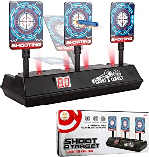 CPSYUB (2020 Updated Edition) Electric Digital Target for Nerf Guns Toys,Scoring Auto Reset Nerf Target for Shooting with Wonderful Light Sound Effect Nerf Guns for Boys Girls