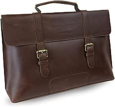 LB1 High Performance Leather Unisex Business Messenger Bag Briefcase Bag for Toshiba Qosmio X75 Laptop Intel Core i7-4700MQ 2.4GHz Blu-Ray Writer (Brown)
