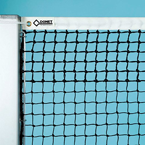 DONET Tennisnetz ca. 3 mm ø stark, schwarz, mit 5 Doppelreihen Oben