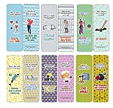 Creanoso Funny Bookmarks Cards - Sport Puns (12-Pack) - Stocking Stuffers Premium Quality Gift Ideas for Children, Teens, Adults - Corporate Giveaways & Party Favors