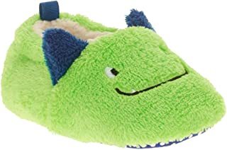 Pre-Walk Monster Face Lime Green 3D Boys Slippers With Bottom Grippers (6)